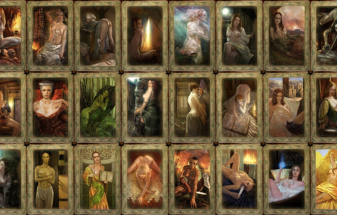 Photo wallpaper card, girls, The Witcher, Witcher