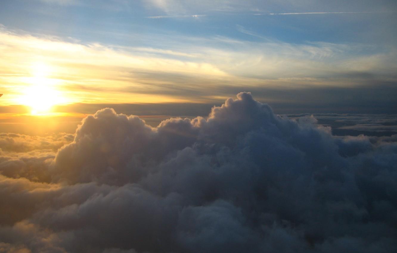 Photo wallpaper the sky, the sun, clouds, sunrise