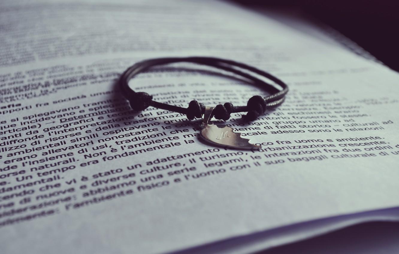 Photo wallpaper text, half, book, bracelet, page, half