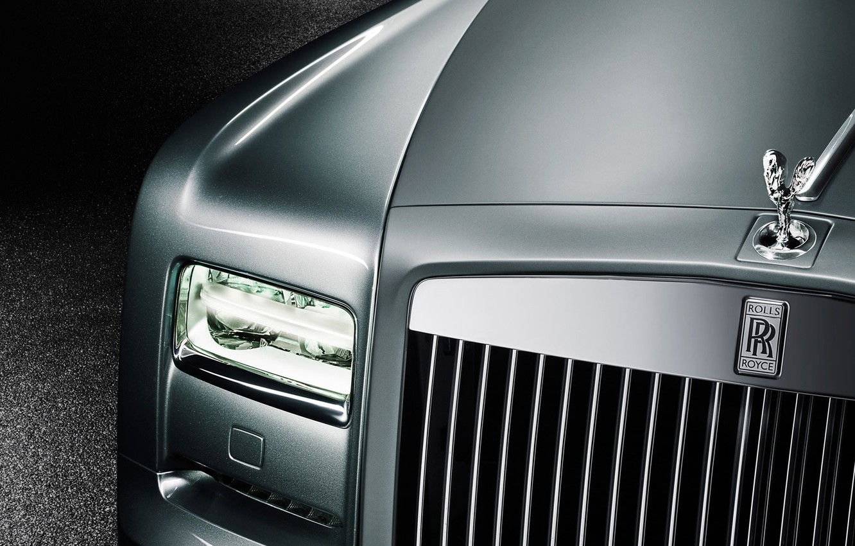 Photo wallpaper headlight, Rolls-Royce, grille, emblem