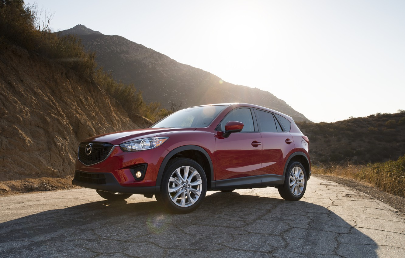 Photo wallpaper red, Mazda, CX-5, Skyactiv, SOUL RED
