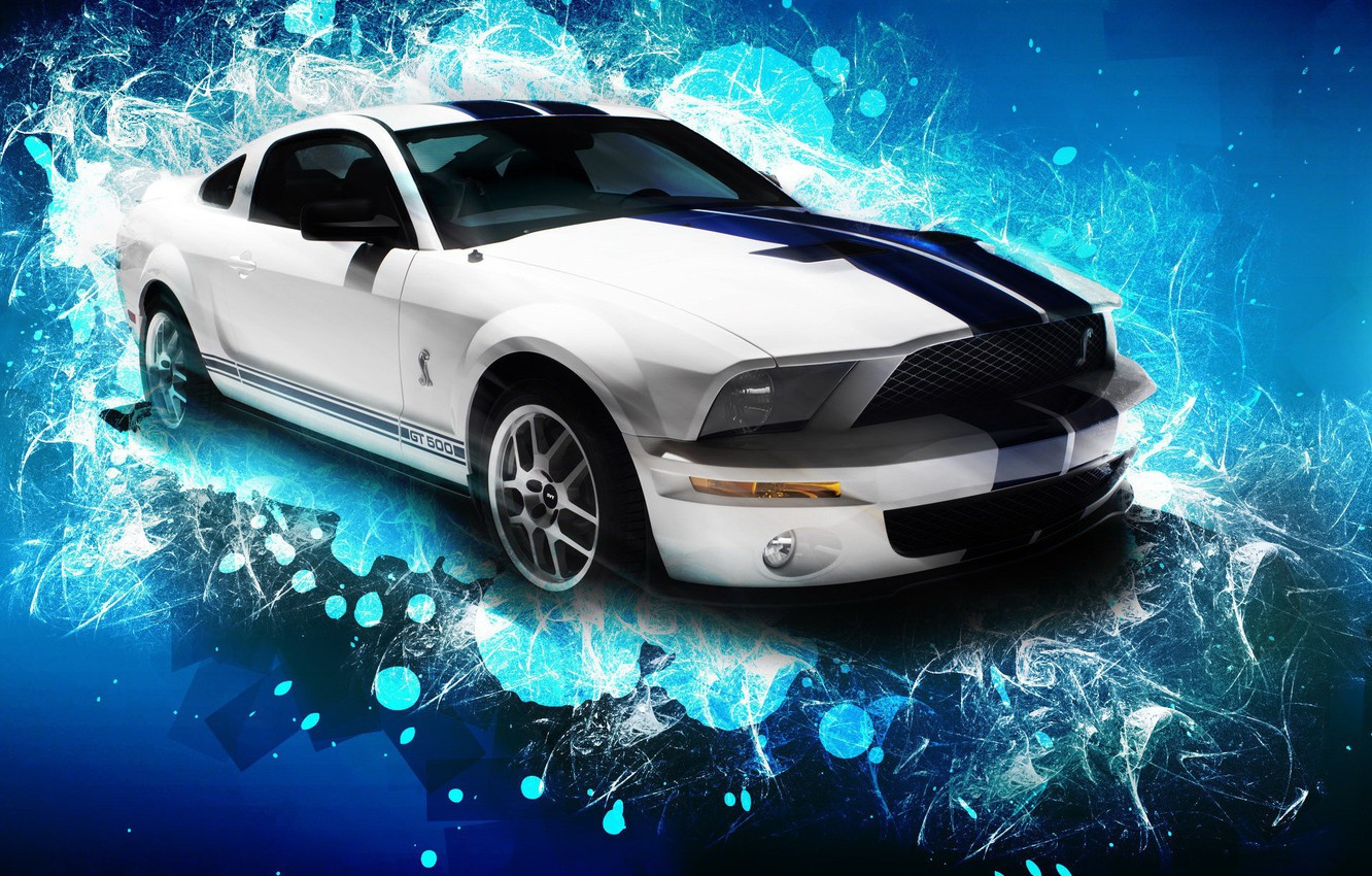 Photo wallpaper machine, Mustang, Ford, Shelby, GT500