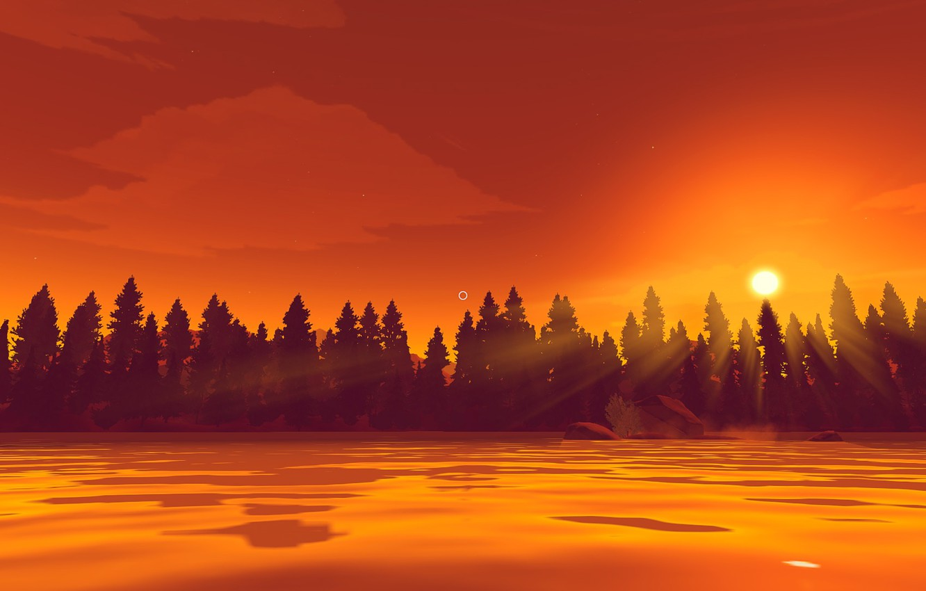 Photo wallpaper Wyoming, video game, Campo Santo, Henry, firewatch