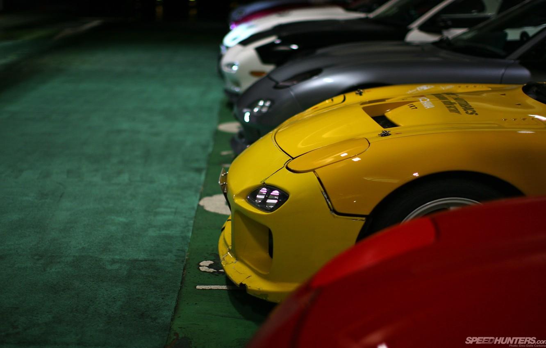 Photo wallpaper lights, tuning, garage, mazda, jdm, rx7, Mazda rx7