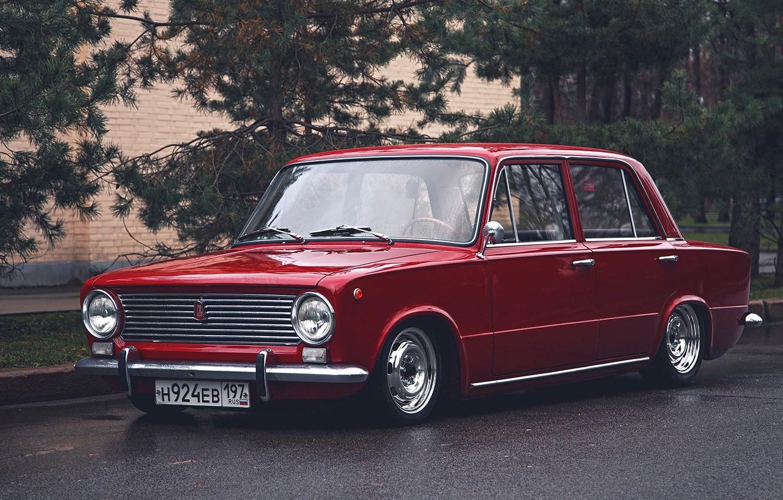 Photo wallpaper retro, red, penny, red, classic, jdm, tuning, retro, classic, Lada, vaz, VAZ, lada, Lada, 2101, …