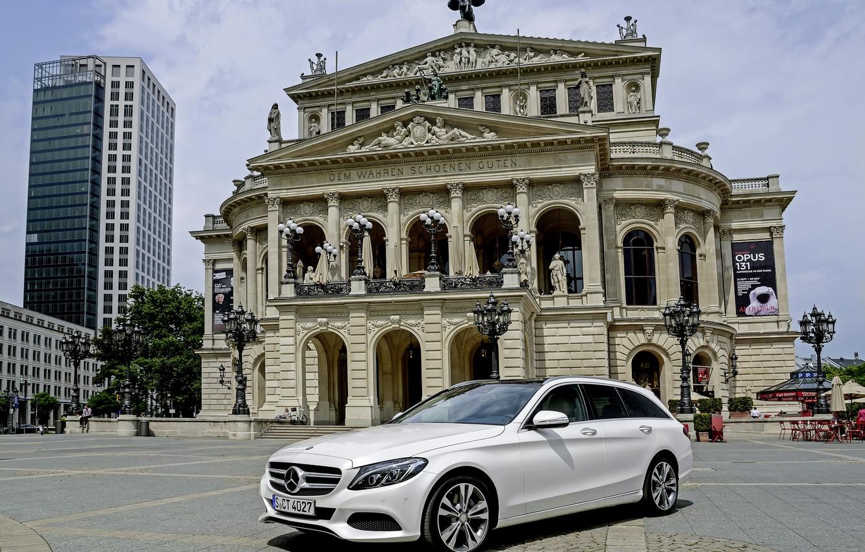 Photo wallpaper Mercedes-Benz, Mercedes, Hybrid, hybrid, BlueTec, Estate, 2015, S205, Avantgarde, C 300