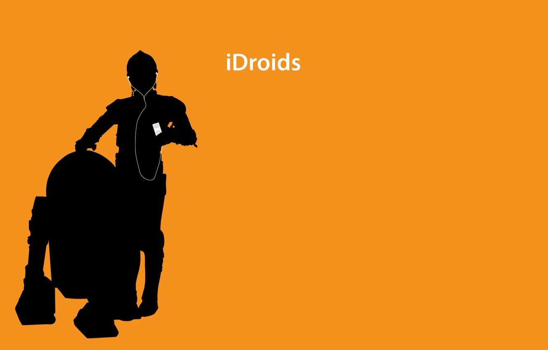 Photo wallpaper ipod, droids, headphones, star wars