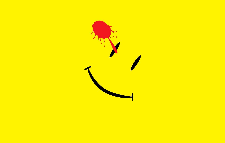 Photo wallpaper abstraction, smile, blot, Watchmen