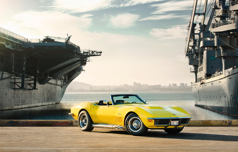 Photo wallpaper ships, Chevrolet Corvette, muscle car, Corvette, rechange, Stingray