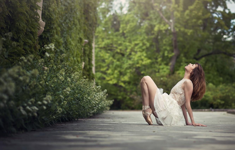 Photo wallpaper girl, dance, ballerina