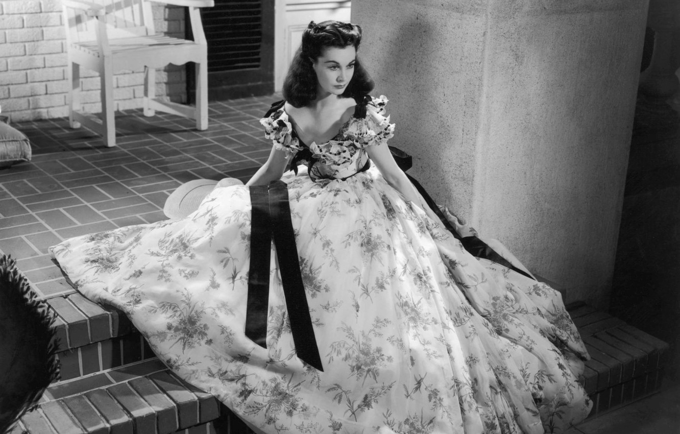 Photo wallpaper look, reverie, retro, girls, Wallpaper, USA, USA, war, the movie, the estate, Gone with the …