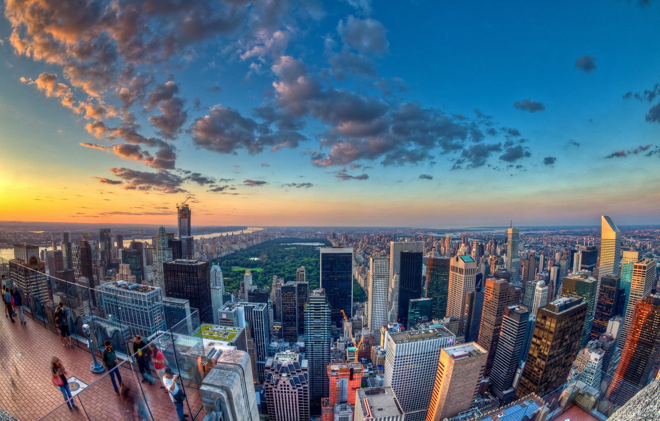 Photo wallpaper skyscrapers, panorama, America, the view from the top, new york, new York
