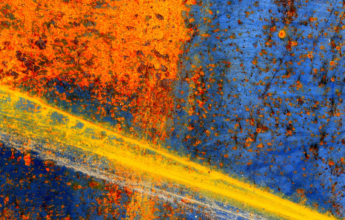 Photo wallpaper surface, metal, color, texture, rust