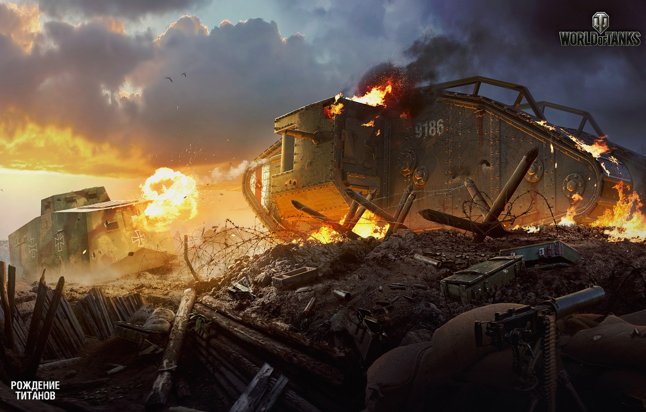Photo wallpaper Tanks, WoT, World of tanks, World of Tanks, The Birth Of The Titans