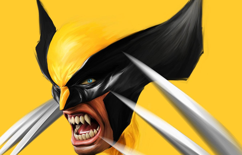 Photo wallpaper figure, claws, fangs, evil, Wolverine, Logan, Art, x-men, Wolverine, art, Marvel, x-men, Comics, Zsolt