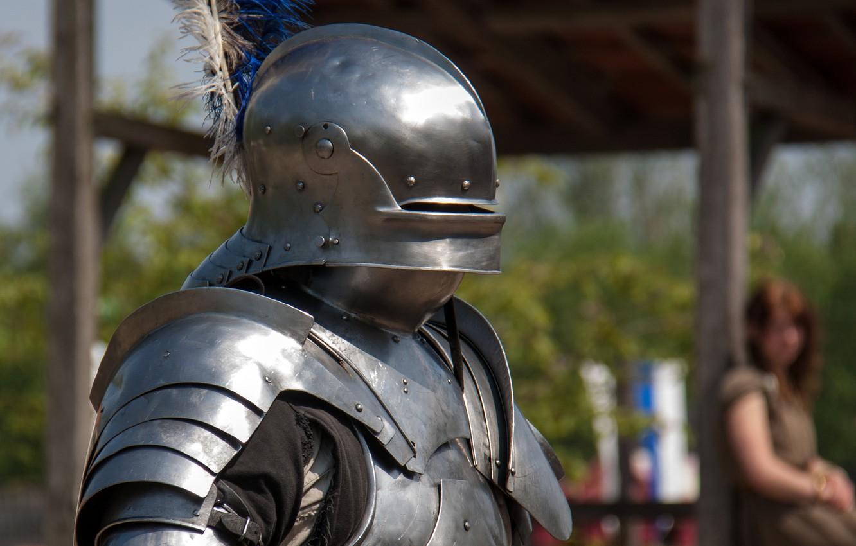 Photo wallpaper metal, armor, warrior, helmet, knight