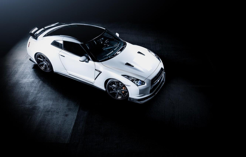 Photo wallpaper white, Nissan, white, GT-R, Nissan, R35