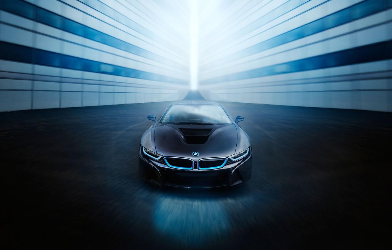 Photo wallpaper BMW, Car, Blue, Front, Black, Sport, View, Ligth