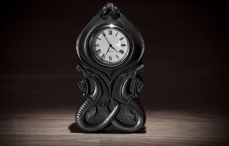 Photo wallpaper bokeh, time, antique, ancient, clock, arrows, quartz, 4.35.55