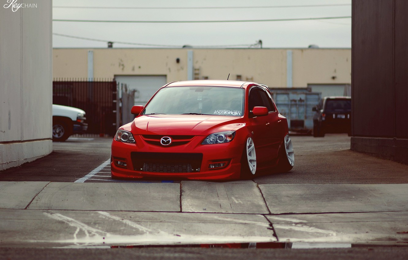 Photo wallpaper red, Mazda, red, Mazda, mazda 3