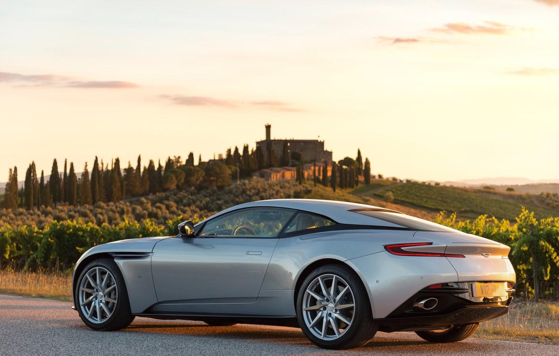 Photo wallpaper car, auto, Aston Martin, Aston Martin, wallpaper, supercar, road, sky, DB11