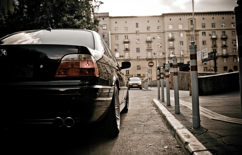 Photo wallpaper Wallpaper, lights, BMW, Car, wallpapers, Boomer, seven, Beha, E38, BMW 750