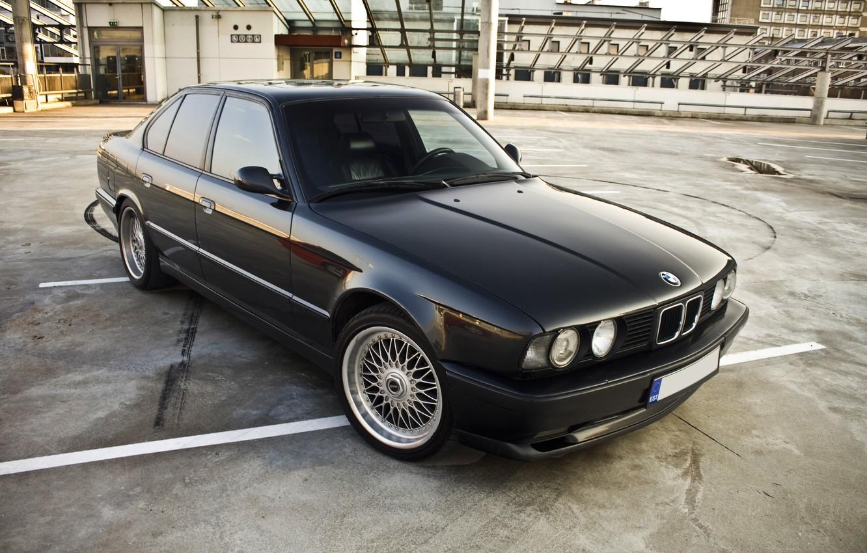 Photo wallpaper BMW, E34, BBS