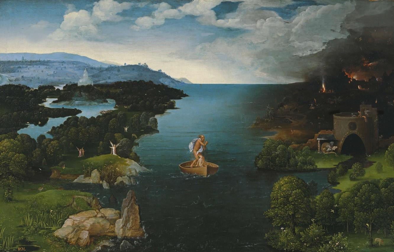Photo wallpaper Joachim Patinir, Joachim Of Patinir, Crossing to the Underworld
