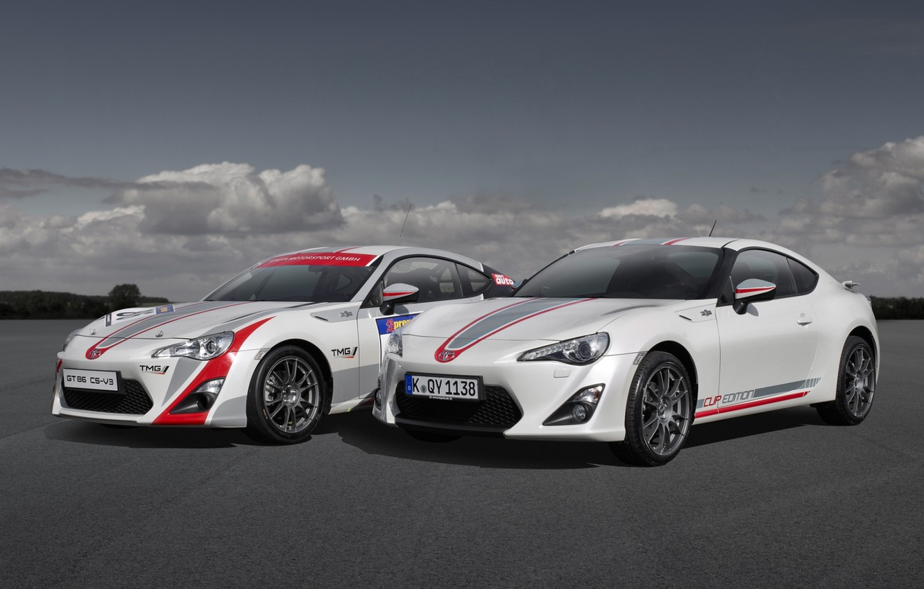 Photo wallpaper the sky, coupe, Toyota, the front, Toyota, GT 86, Cup Edition
