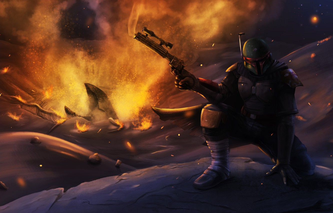 Wallpaper Star Wars Helmet Art Boba Fett Bounty Hunter