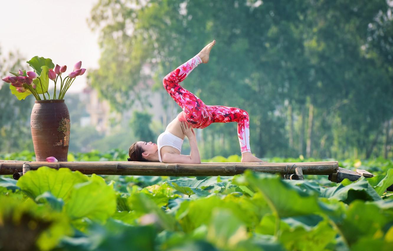 Wallpaper Girl Nature Pose Gymnastics Yoga Legs Asian Images For Desktop Section Sport Download