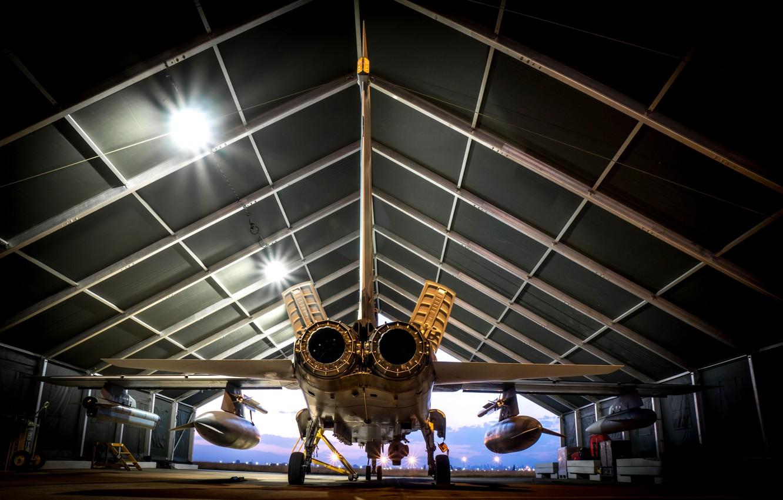 Photo wallpaper weapons, hangar, the plane