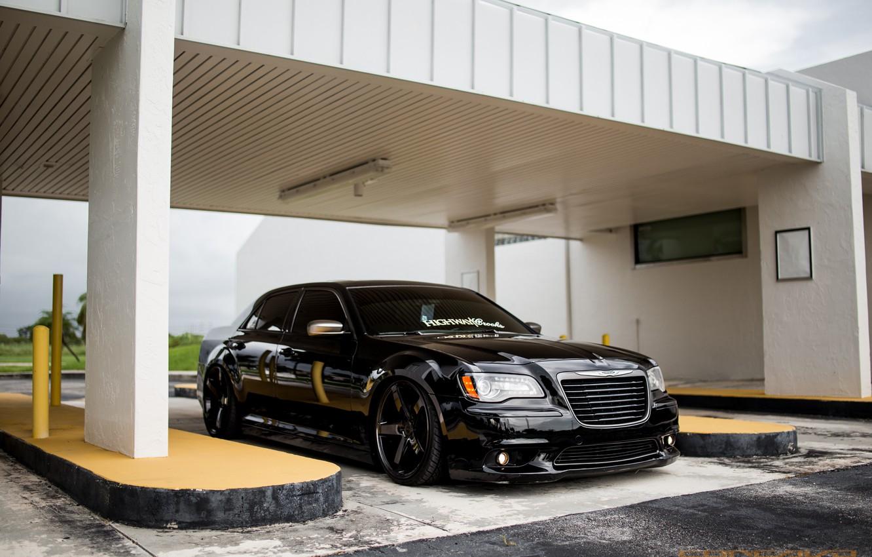 Photo wallpaper Chrysler, Smoke, Custom, 300c, CW-5, Bagged, Finish, Liquid, on