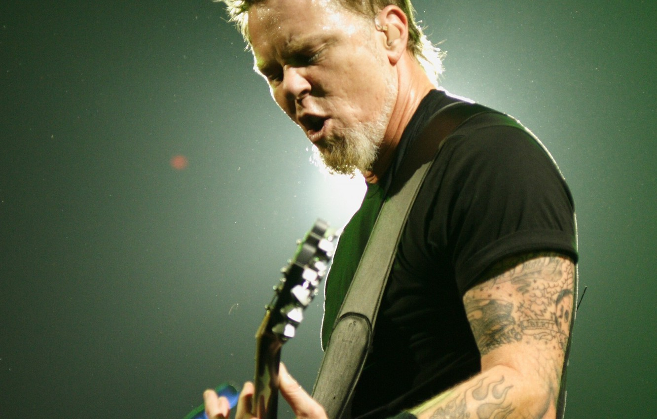 Photo wallpaper guitar, concert, metal, rock, metallica, james hatfield, thrash metal, heavy metal