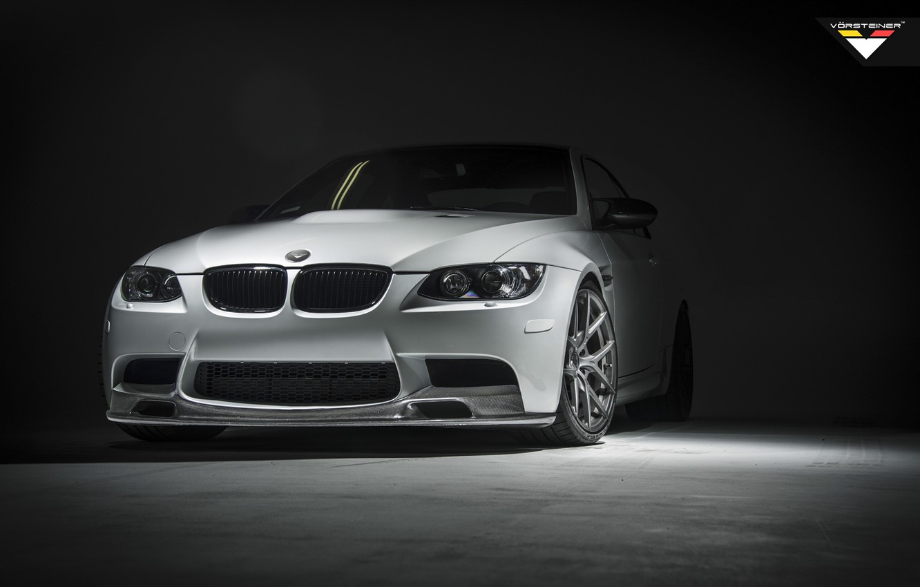 Photo wallpaper BMW, Vorsteiner, E92, Mineral White