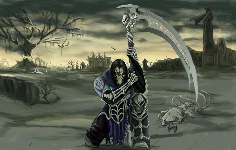 Wallpaper death, darksiders, death, horseman of the