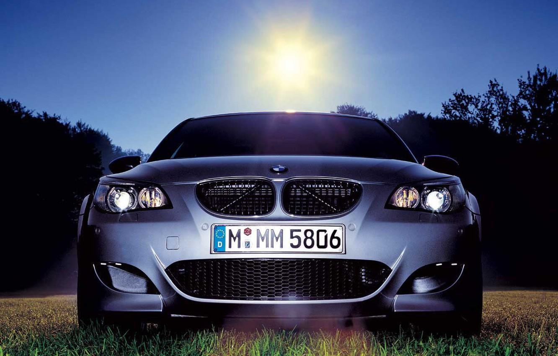 Photo wallpaper grass, BMW, MMM