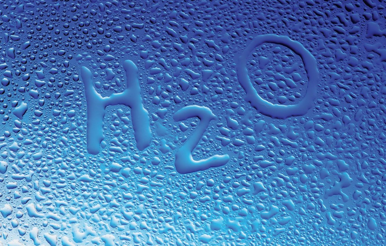 Photo wallpaper glass, water, drops, formula