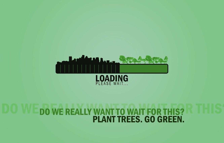 Photo wallpaper Minimalism, Green, Ecology