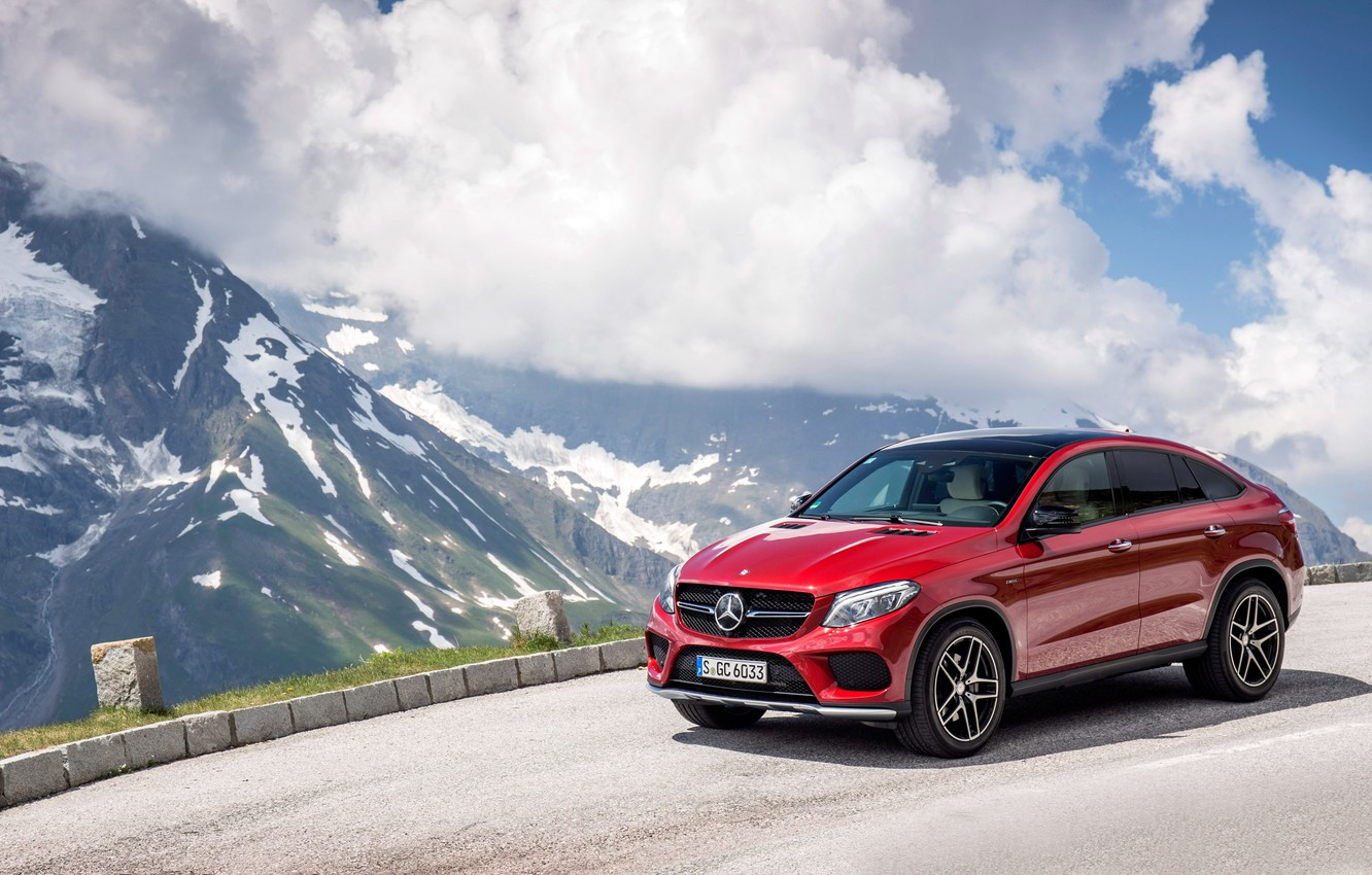 Photo wallpaper red, coupe, Mercedes-Benz, Mercedes, AMG, Coupe, 4MATIC, 2015, C292, GLE 450
