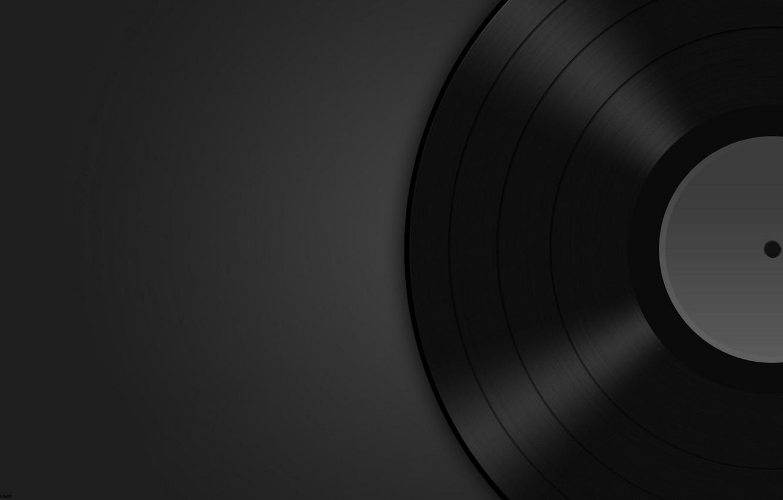 Photo wallpaper music, background, dark, vinyl, record