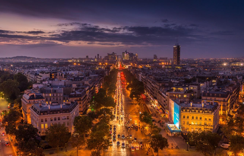 Wallpaper Night The City Lights France Paris Home