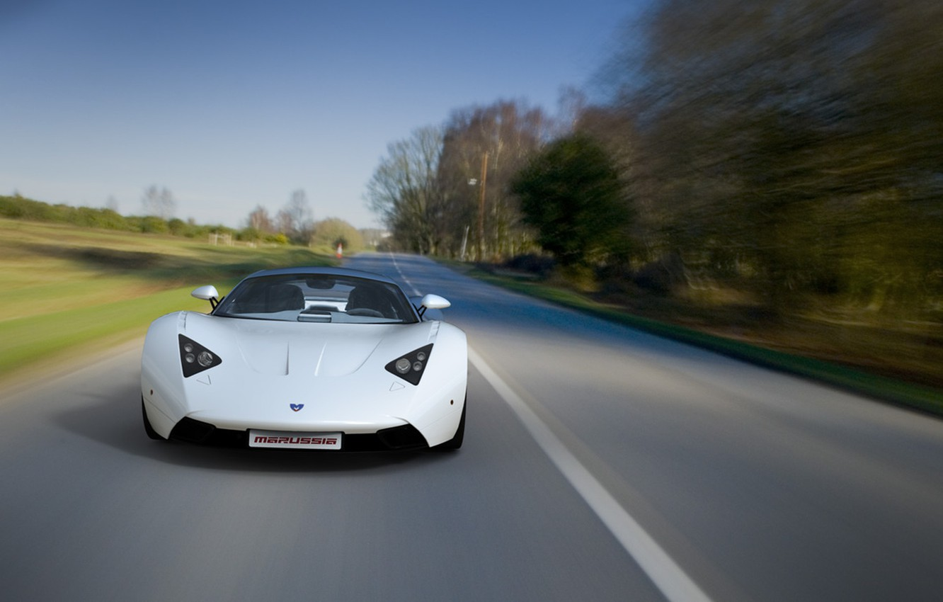 Photo wallpaper car, first, Russian, production, Marussia B1, Marussia B1, Marussia Motors., sports car