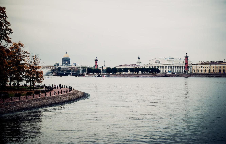 Photo wallpaper river, Peter, Saint Petersburg, Russia, Russia, promenade, SPb, Neva, St. Petersburg, spb