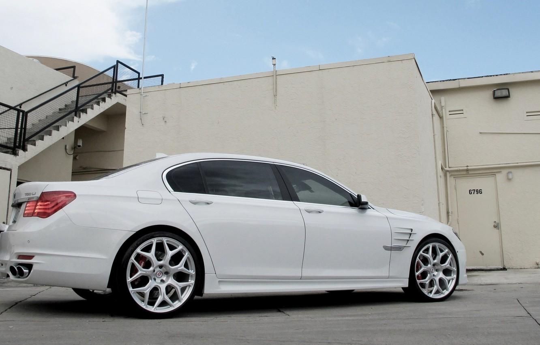 Photo wallpaper BMW, white, 7 series