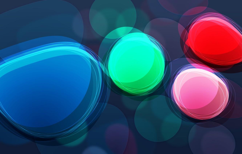 Photo wallpaper color, circles, abstraction, brightness, wallpapers