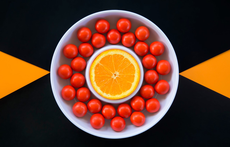 Photo wallpaper orange, pills, Orange Sweets