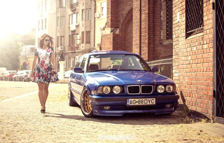 Photo wallpaper BMW, E34