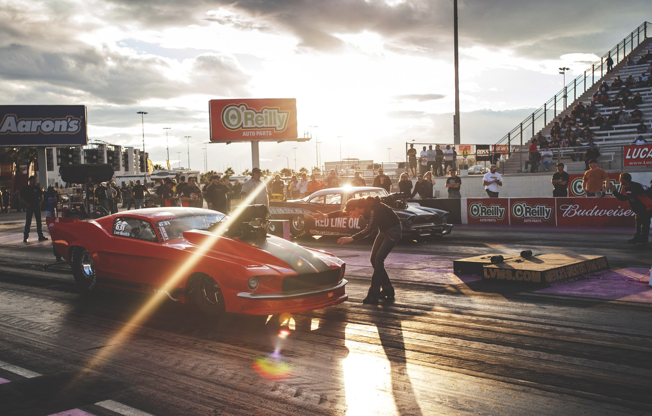 Photo wallpaper track, mustang, ford, drag, race, Ford.Mustang, drag.race