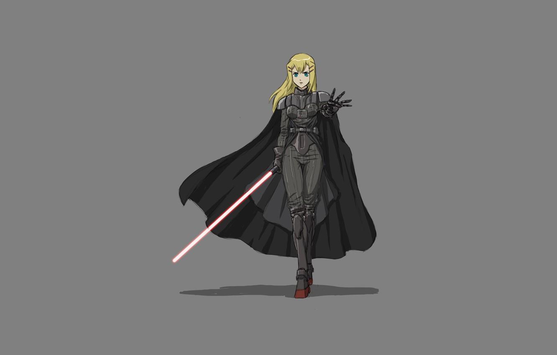 Photo wallpaper minimalism, anime, star wars, parody, star wars, Sith, Darth Vader